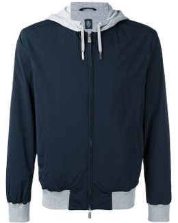 Contrast Hooded Jacket