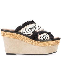 Crisscross Strap Platform Sandals