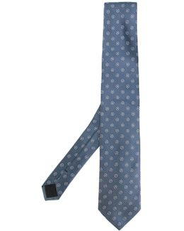 - Embroidered Tie - Men - Silk - One Size