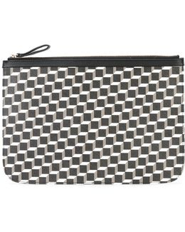 'canvas Cube' Clutch