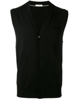 Sleeveless V-neck Cardigan