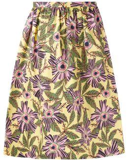 - Floral Print Skirt - Women - Cotton/spandex/elastane - 44