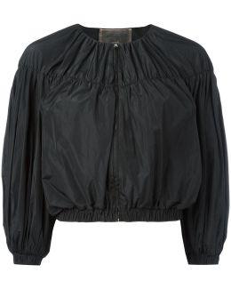 Cropped Ballon Sleeve Jacket