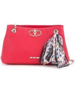 Scarf Detail Shoulder Bag