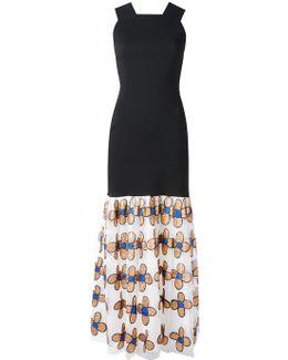 Bodycon Dress With Flower Skirt