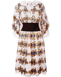 Allover Flower Shirt Dress