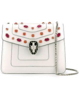 - Serpenti Shoulder Bag - Women - Leather/metal/glass - One Size