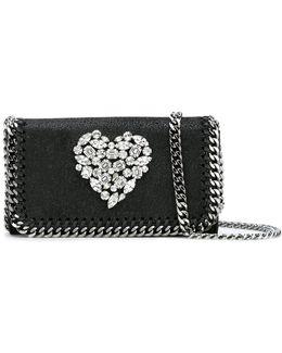Crystal Heart Falabella Cross-body Bag