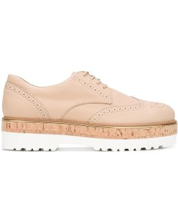 Platform Sole Laced Loafers