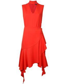 Choker Neck Frilly Dress