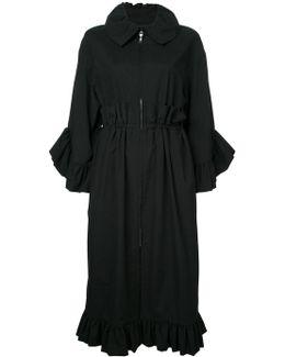 Ruffle Trim Coat