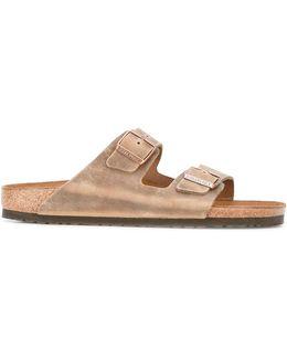 Buckled Slip-on Sandals
