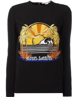 One Love Embroidered Stretch Sweatshirt