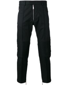 Cropped Zip Trousers