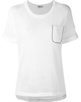 Embellished Chest Pocket T-shirt
