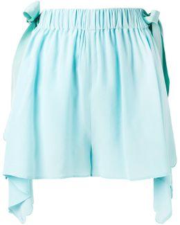 Scalloped Handkerchief Hem Shorts