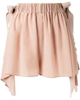 Handkerchief Hem Scallopped Shorts