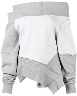 Off The Shoulder Reworked Sweatshirt