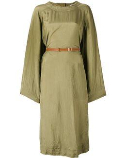 Belted Long Sleeve Dress