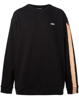 Stripe-print Sweatshirt