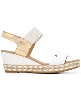 Braided Sole Wedge Sandals