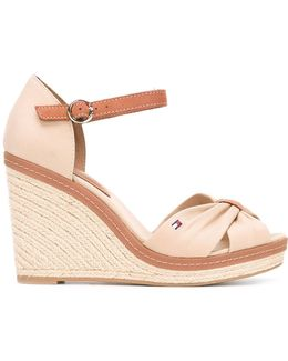 Buckled Wedge Sandals