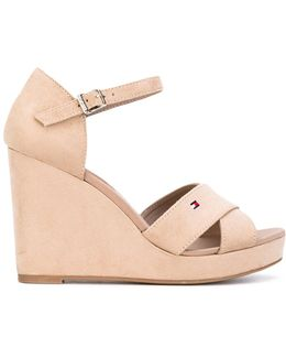 Wedge Buckled Sandals