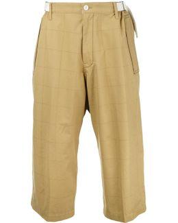 Grid Print Trousers