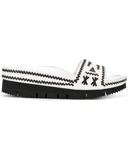 Monochrome Sandals