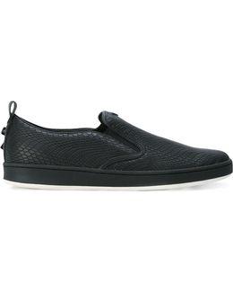 Embossed Slip-on Sneakers