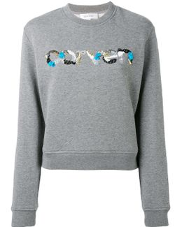 Sequin Logo Sweatshirt