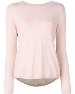 Colour-block Cashmere Top
