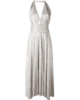 Metallic Halterneck Dress