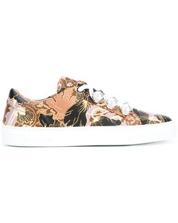 Printed Decorative Lace Trainers
