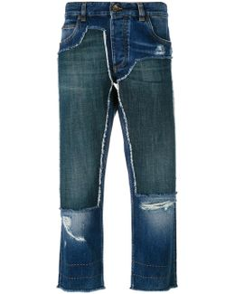 Cropped Patch Jeans