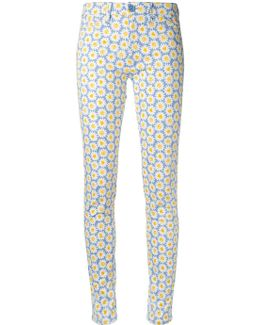 Daisy Print Skinny Trousers