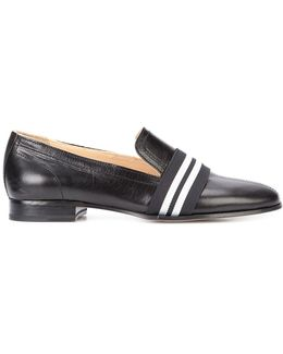 Stripe Panel Loafers