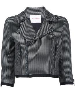 Stripe Cropped Jacket