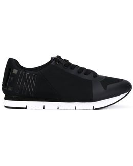 Heel Logo Lace-up Sneakers