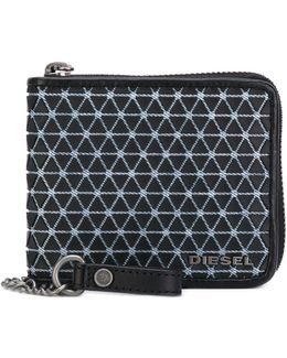 Chain Pattern Zipped Wallet