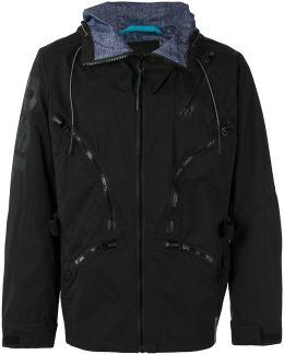 Multiple Zips Hooded Jacket