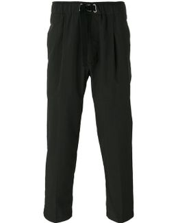 Pleat Detail Cropped Trousers
