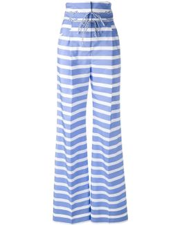 High-rise Striped Trousers