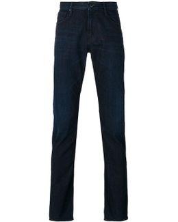 Folded Hem Slim-fit Jeans