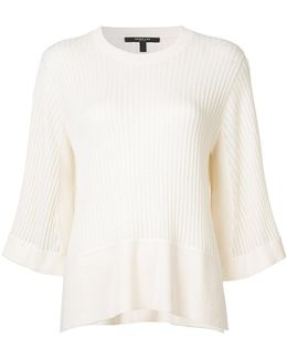 Ribbed Loose-fit Blouse