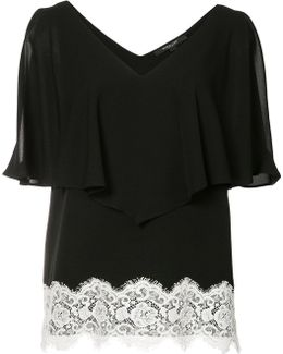 Lace Detail Ruffled Blouse
