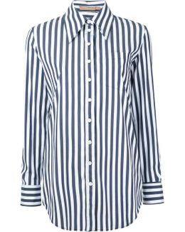 Striped Boyfriend Fit Shirt