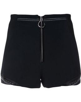 Zip Front Shorts