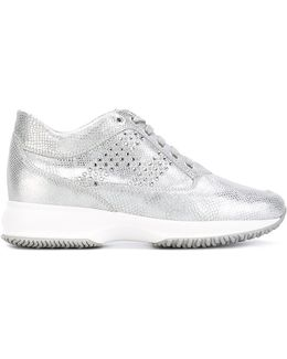 Studded High Shine Trainers