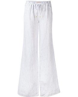 Drawstring Pinstripe Trousers